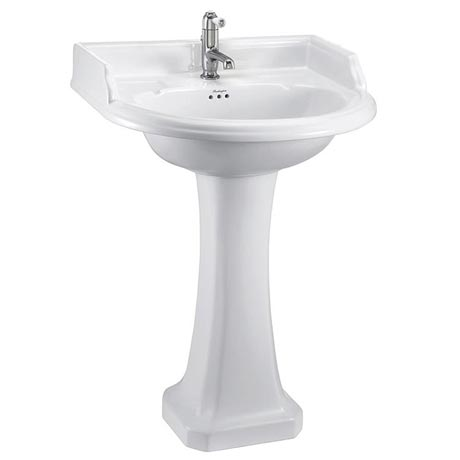 Burlington Classic Round 65cm Basin with Pedestal - Various Tap Hole Options
