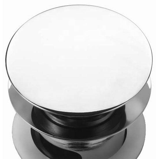"Burlington ""Click-Clack"" Slotted Push Button Basin Waste - W11 Profile Large Image"