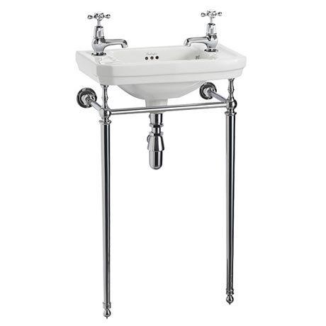 Burlington Cloakroom Victorian Basin and Chrome Wash Stand