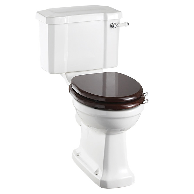 Burlington Cloakroom Slimline Close Coupled Traditional Toilet - Lever Flush Large Image