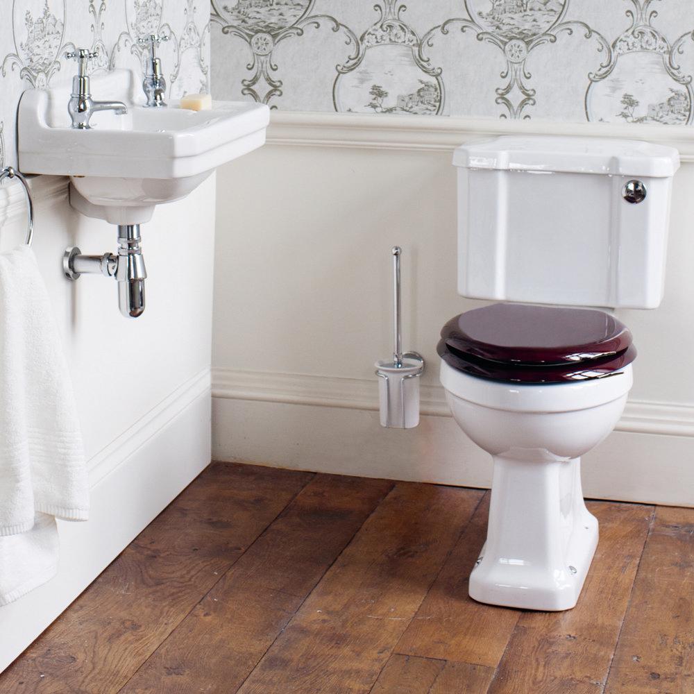 Burlington Cloakroom Slimline Toilet - Button Flush Profile Large Image