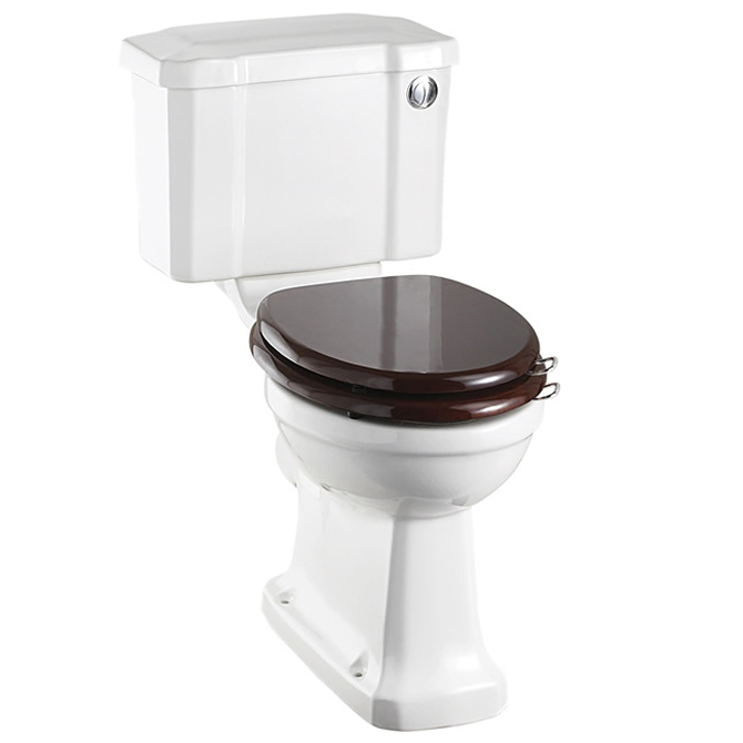 Burlington Cloakroom Slimline Toilet - Button Flush Large Image
