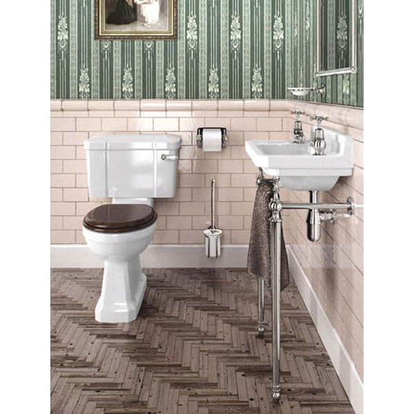 Burlington Cloakroom Slimline Toilet And Edwardian Basin