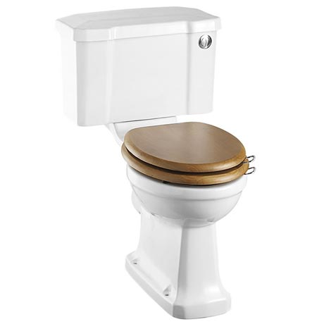 Burlington Close Coupled Traditional Toilet - Push Button Flush