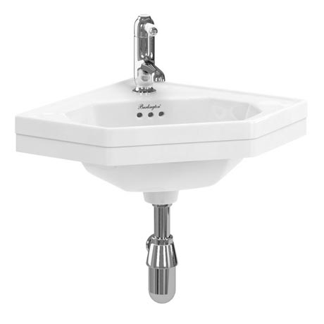 Burlington Corner Wall Mounted Cloakroom Basin - B10