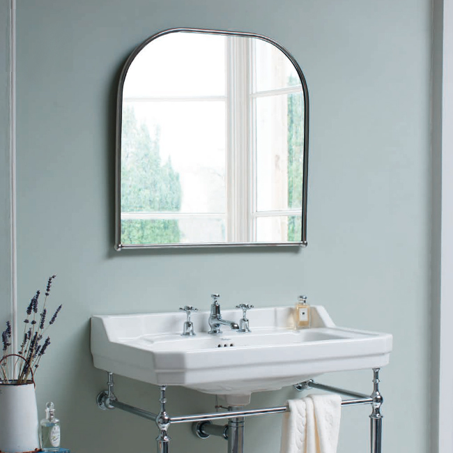 Burlington Curved Mirror with Chrome Frame - 700x700mm profile large image view 2