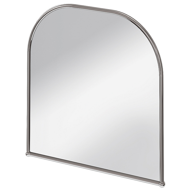 Burlington Curved Mirror with Chrome Frame - 700x700mm Large Image