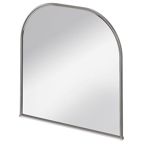 Burlington Curved Mirror with Chrome Frame - 700x700mm