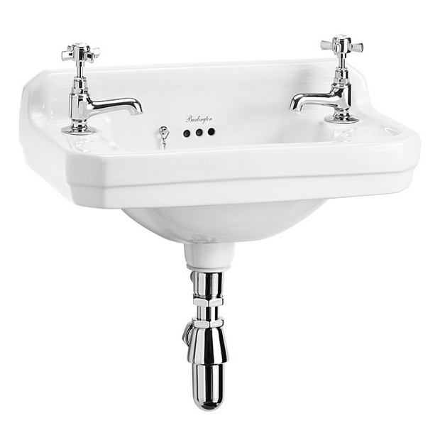 Burlington Edwardian 2TH Wall Mounted Cloakroom Basin - B8 Large Image