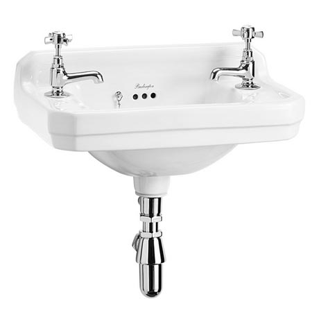 Burlington Edwardian 2TH Wall Mounted Cloakroom Basin - B8