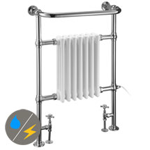 Burlington Full Trafalgar Traditional Radiator (Inc. Valves + Electric Heating Kit) Medium Image