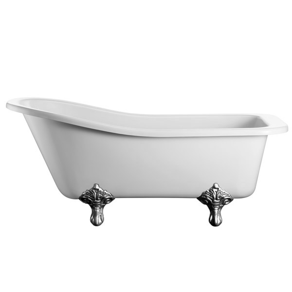 Burlington Harewood Slipper 1700mm Freestanding Bath with Legs profile large image view 5