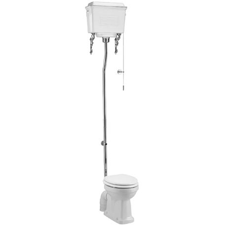 Burlington High Level Toilet - White Aluminium Cistern