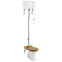 Burlington High Level Toilet - White Ceramic Cistern Medium Image
