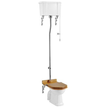 Burlington High Level Toilet - White Ceramic Cistern