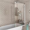 Burlington - Hinged Bath Screen - 850 x 1450mm - BU43 Medium Image