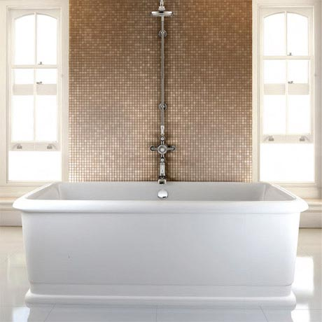 Burlington London 1800mm Rectangle Soaking Tub - E19