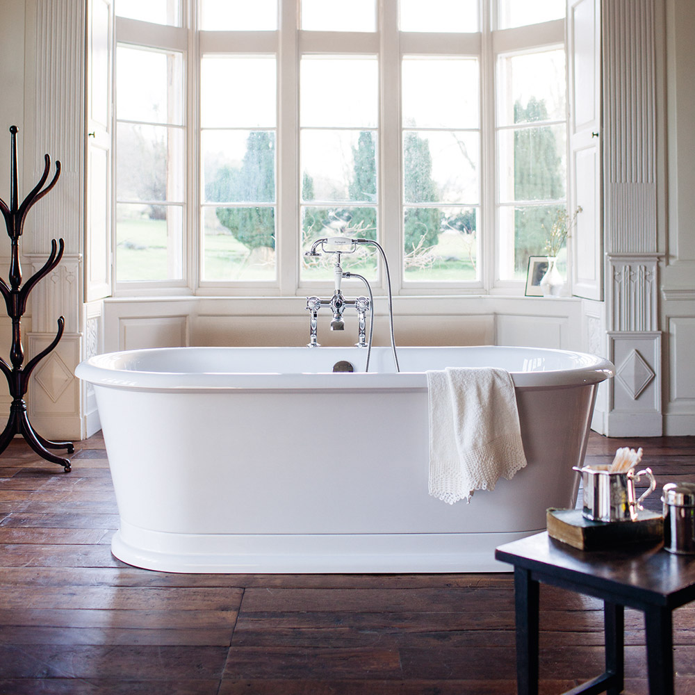 Burlington London 1800mm Round Soaking Tub E18 At
