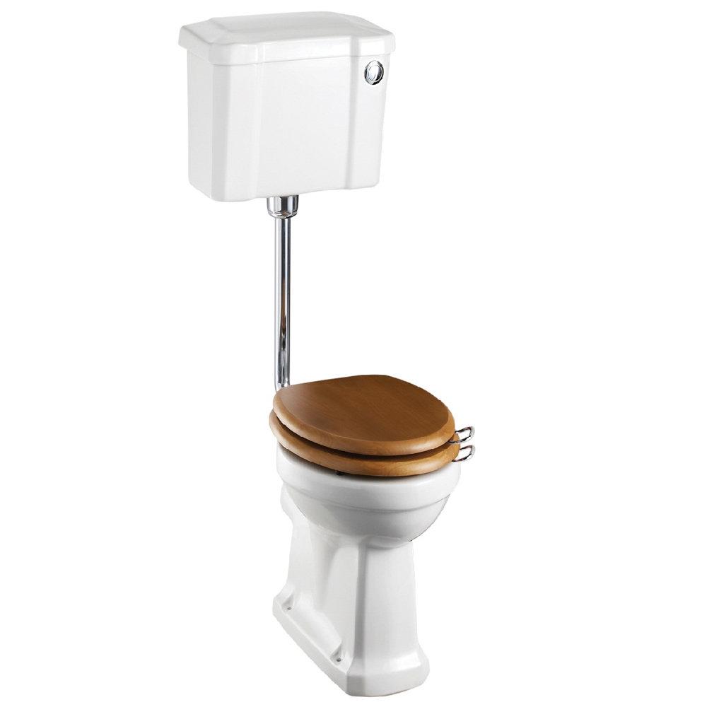 Burlington Low Level WC - 44cm Slimline Cistern - Button Flush profile large image view 1
