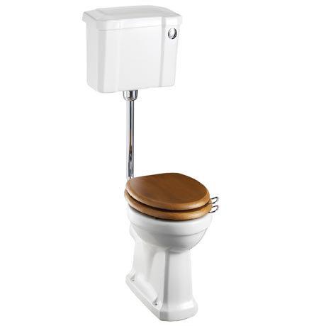 Burlington Low Level WC - 44cm Slimline Cistern - Button Flush