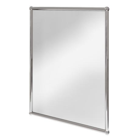 Burlington Rectangular Mirror with Chrome Frame - A11-CHR