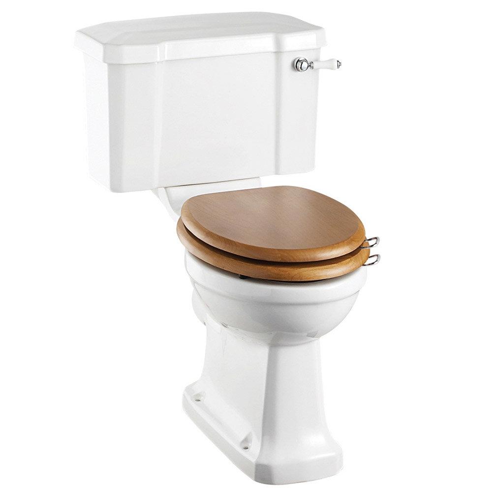 Burlington Regal Close Coupled Traditional Toilet - Ceramic Lever Flush Large Image