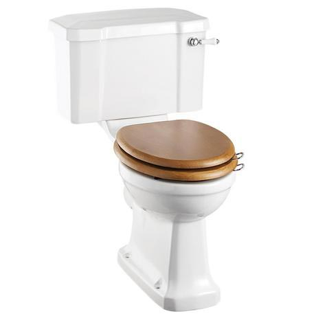 Burlington Regal Close Coupled Traditional Toilet - Ceramic Lever Flush
