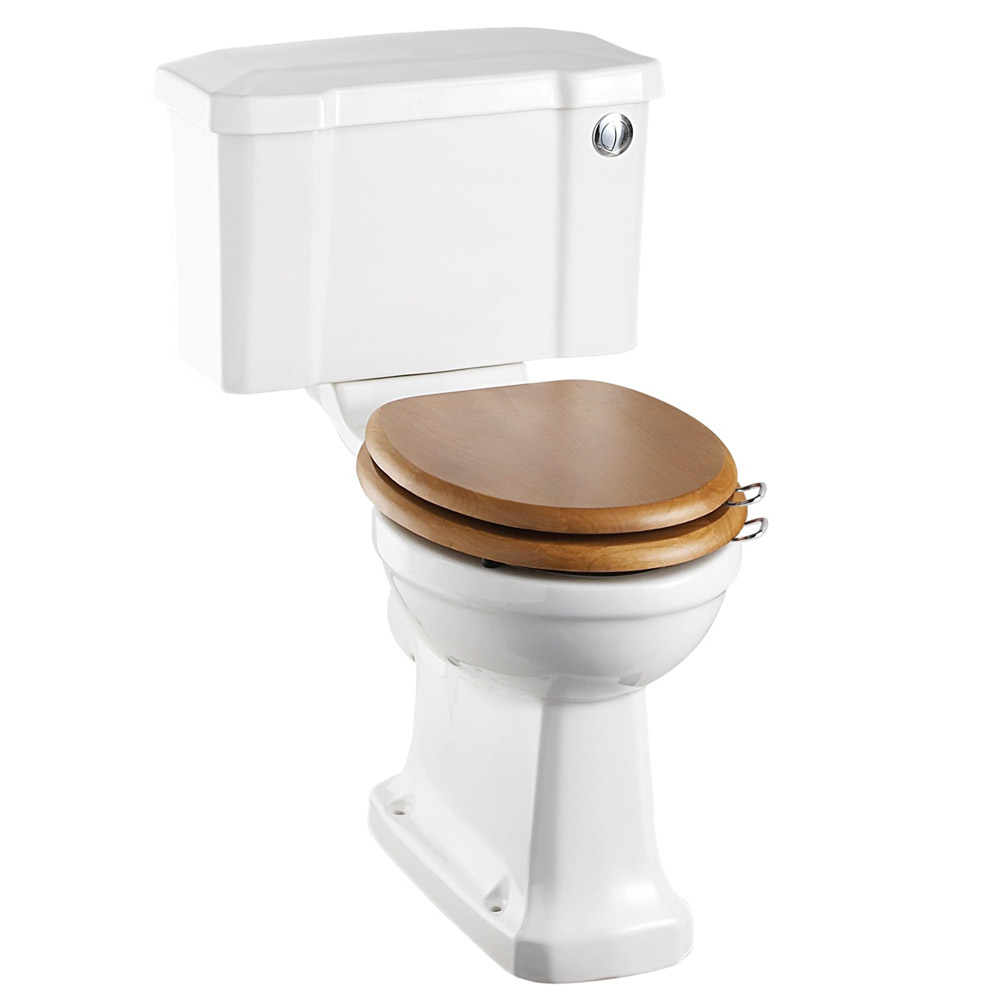 Burlington Regal Close Coupled Traditional Toilet - Push Button Flush Large Image