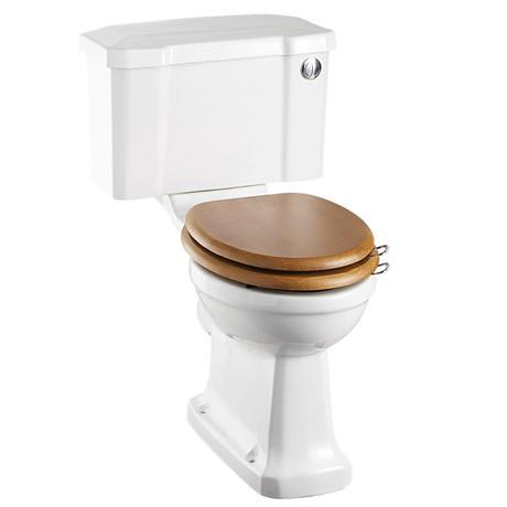Burlington Regal Close Coupled Traditional Toilet - Push Button Flush