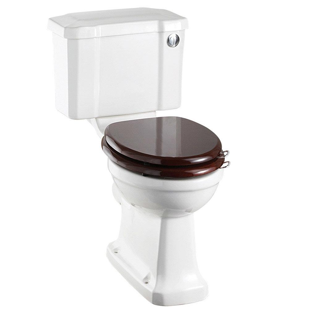 Burlington Regal Slimline Close Coupled Traditional Toilet - Button Flush profile large image view 1