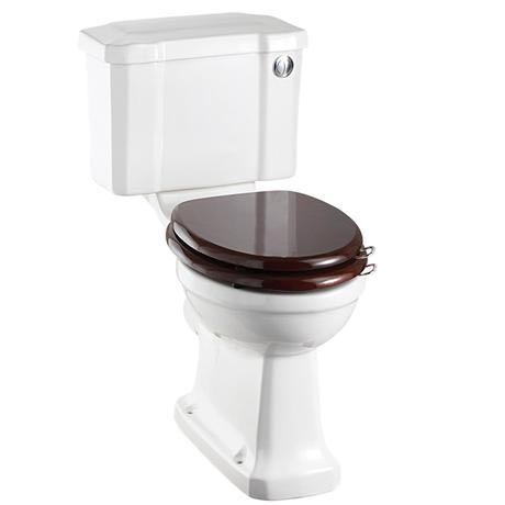 Burlington Regal Slimline Close Coupled Traditional Toilet - Button Flush