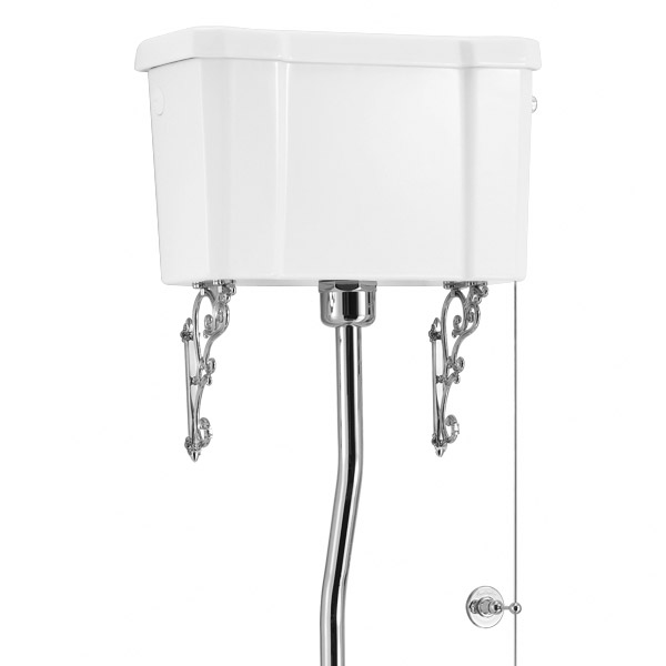 Burlington Regal High Level Raised Height Toilet with White Ceramic Cistern Feature Large Image