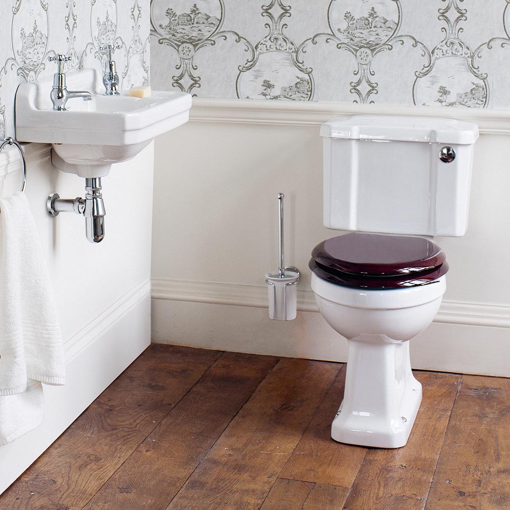 Burlington Regal Slimline Close Coupled Traditional Toilet - Button Flush profile large image view 2