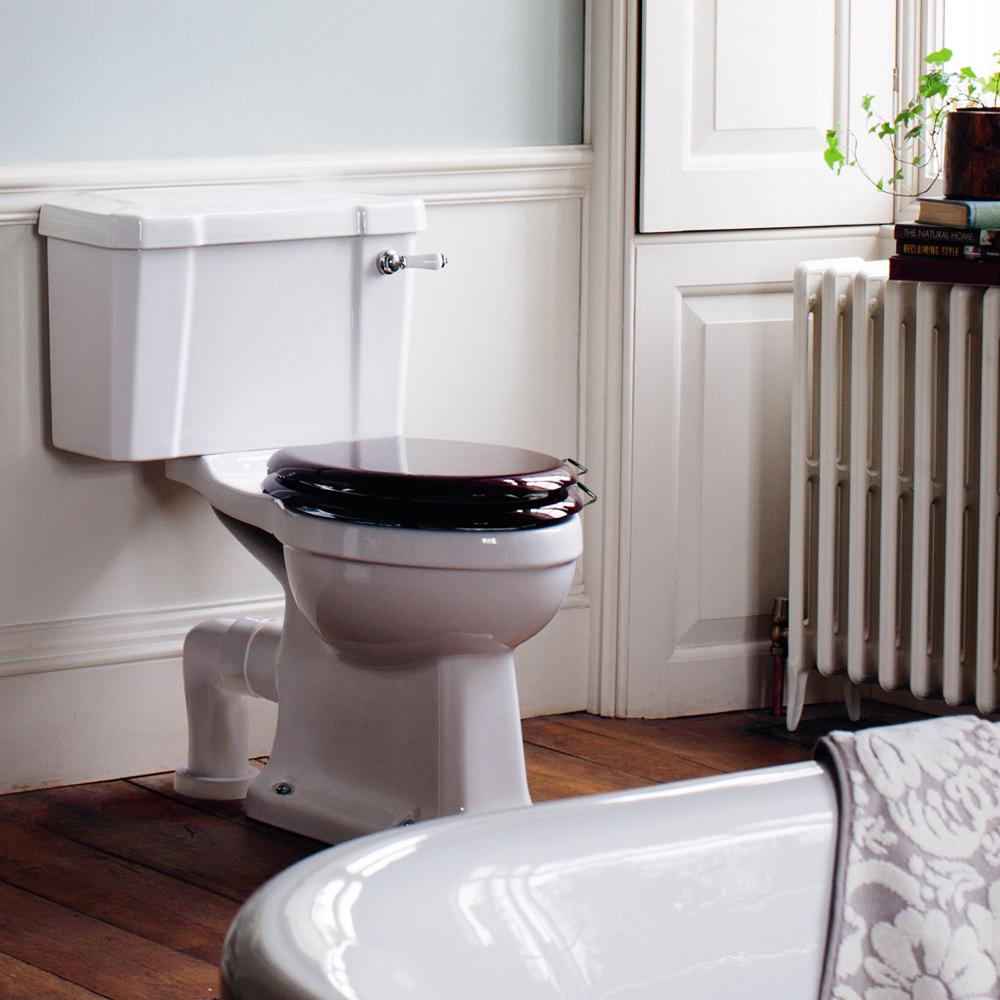 Burlington Regal Slimline Close Coupled Traditional Toilet - Ceramic Lever Flush Profile Large Image