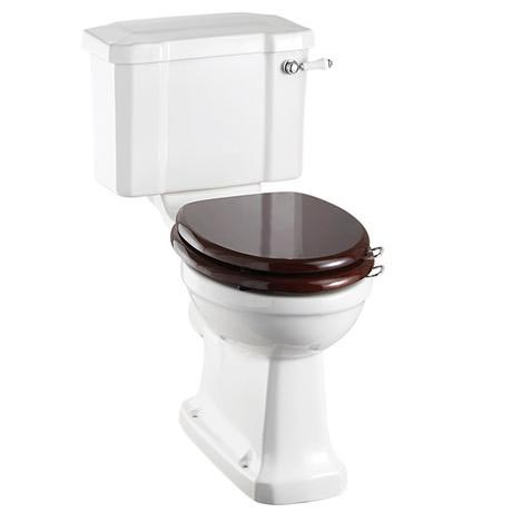 Burlington Regal Slimline Close Coupled Traditional Toilet - Ceramic Lever Flush