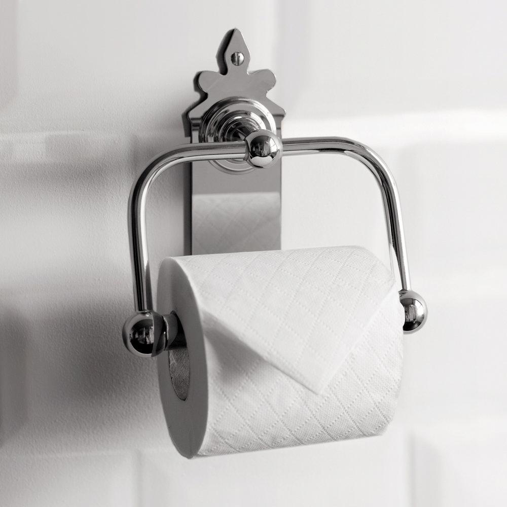 Burlington Spire Chrome Toilet Roll Holder - A45CHR Profile Large Image