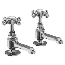 Burlington - Stafford Long Nose Basin Pillar Taps - STA12 Medium Image