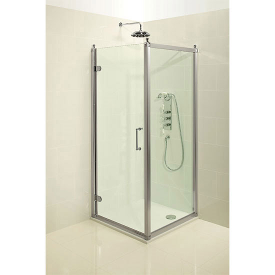 Burlington Traditional Hinged Shower Door & Side Panel profile large image view 2