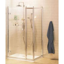 Burlington Traditional Hinged Shower Door with Inline Panel & Side Panel Medium Image