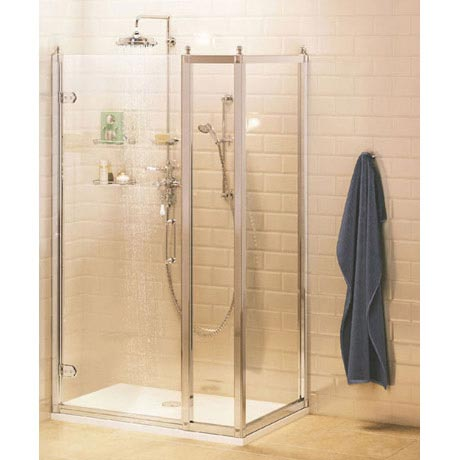 Burlington Traditional Hinged Shower Door with Inline Panel & Side Panel