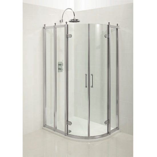 Burlington Traditional Off Set Quadrant Shower Enclosure Profile Large Image