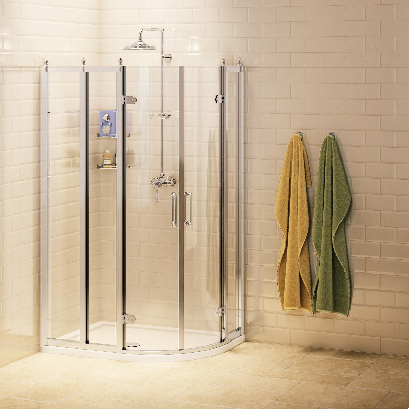 Burlington Traditional Off Set Quadrant Shower Enclosure Large Image