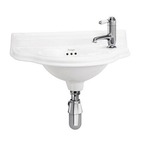 Burlington Traditional 1TH Wall Mounted Curved Cloakroom Basin - P13R