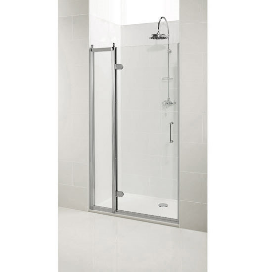 Burlington Traditional Recessed Hinged Shower Door with 1 x Inline Panel Profile Large Image