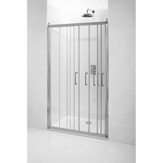 Burlington Traditional Soft Close Recessed Sliding Shower Door profile large image view 2