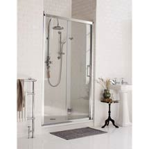 Burlington Traditional Soft Close Recessed Sliding Shower Door Medium Image