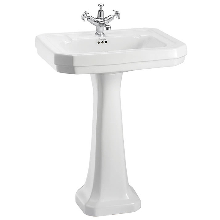 Burlington Victorian Large Basin and Pedestal - Various Tap Hole Options Large Image
