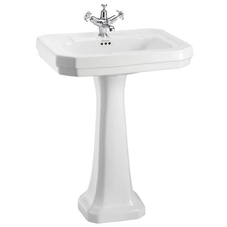 Burlington Victorian Large Basin and Pedestal - Various Tap Hole Options