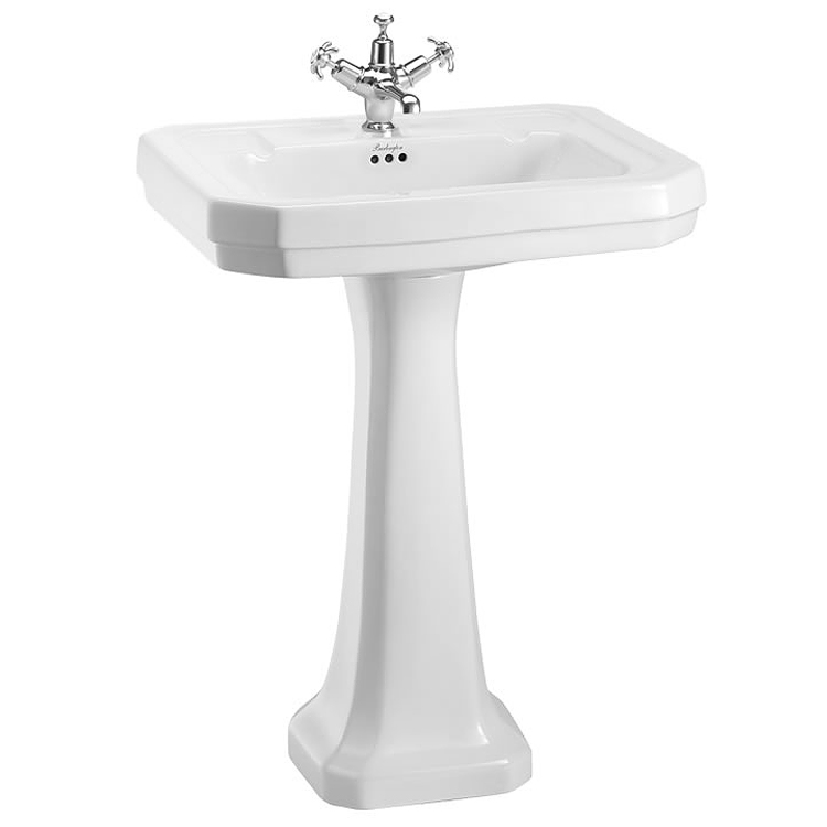 Burlington Victorian Large Basin and Regal Pedestal - Various Tap Hole Options Large Image