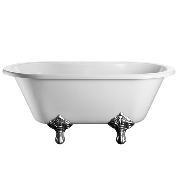 Burlington Windsor Double Ended 1500mm Freestanding Bath with Legs profile large image view 5